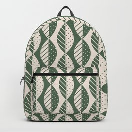 Mod Leaves in Olive and Cream Backpack