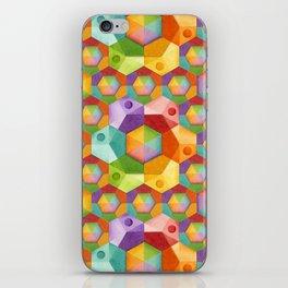 Rainbow Hexagons iPhone Skin