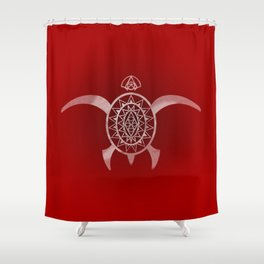 red kame Shower Curtain