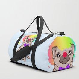 Pug dog in a clown costume Duffle Bag