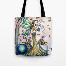 Hope Stones Fairy and Dragons Fantasy Illustration by Molly Harrison Tote Bag