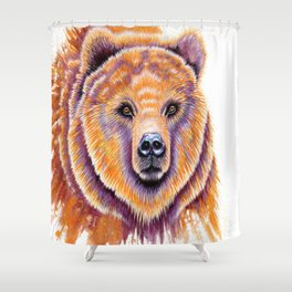 Mr. Grizzly Shower Curtain