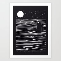 scary Art Prints featuring Scary monster! by SpazioC