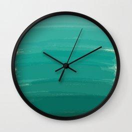 Sea Foam Dream Ombre Wall Clock