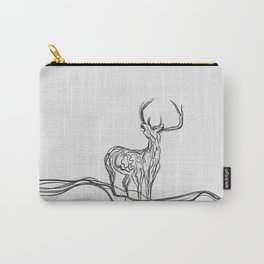 Mountain (Closer Than You Know) Lino Cut Carry-All Pouch