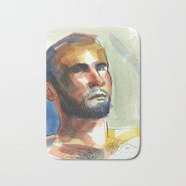 ZACH, Semi-Nude Male by Frank-Joseph Bath Mat