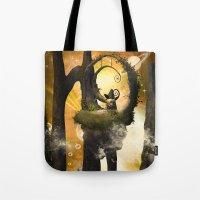wonderland Tote Bags featuring Wonderland  by nicky2342