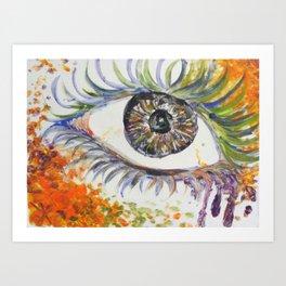 Rainbow Eye Art Print