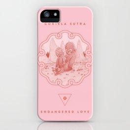 Endangered Love - Gorilla Sutra iPhone Case