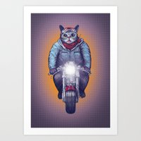 lil bub Art Prints featuring Caferacer Lil Bub by Bacht