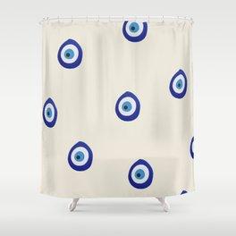 Eye'm Watching You- Blue Evil Eyes Shower Curtain