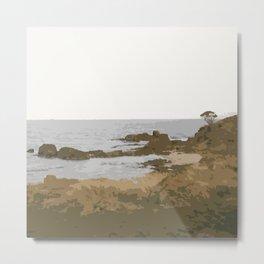 Tasmanian Coast Metal Print