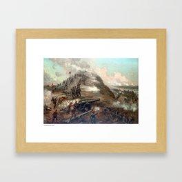 The Capture Of Fort Fisher Framed Art Print