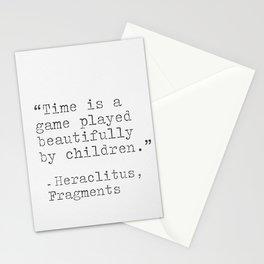 Heraclitus philosophy Stationery Cards