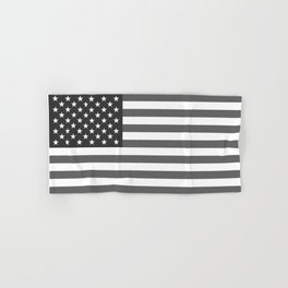 American flag in Gray scale Hand & Bath Towel