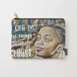 Black Girl Can Do All Things Through Christ Carry-All Pouch