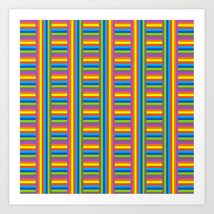 Colorama Pattern Art Print