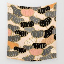 Retro Pumpkin Pattern 1 Wall Tapestry