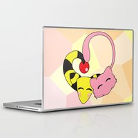 mew Laptop & iPad Skins featuring Mew and Ampharos: Heart by Constanzze