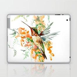 Hummingbird and orange flowers Laptop & iPad Skin
