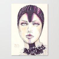 fashion illustration Canvas Prints featuring Fashion illustration  by Ioana Avram