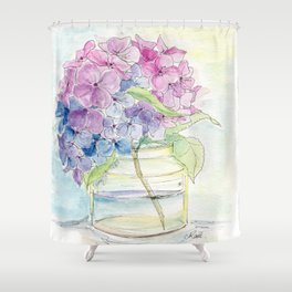 Hydrangea, Still Life Shower Curtain