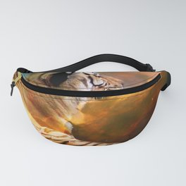 Tiger and Nebula Fanny Pack