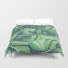 Palm Leaf Print Duvet Cover