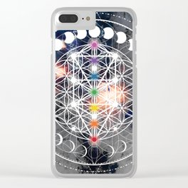 We Are Beings Of Light Clear iPhone Case