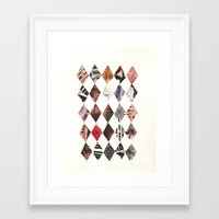 diamonds Framed Art Prints featuring DIAMONDS by Brandon Neher