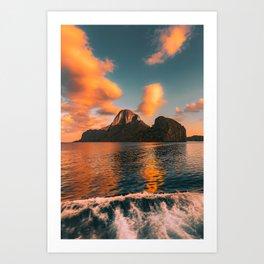 Sunrise in El Nido, Palawan Art Print