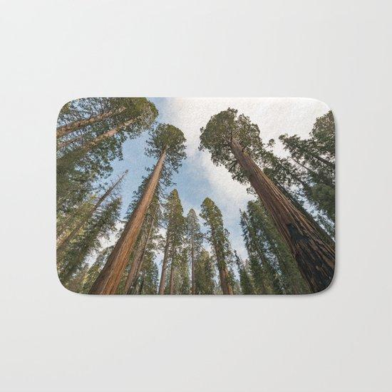 Redwood Sky - Giant Sequoia Trees Bath Mat