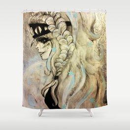 Fantasy Winter Warrior Shower Curtain
