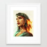 girl Framed Art Prints featuring When the Sun Came Up by Alice X. Zhang