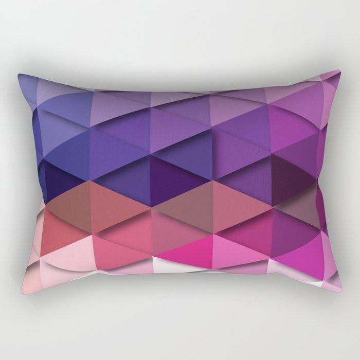 Purple vs. White Rectangular Pillow