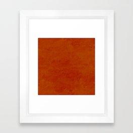 concrete orange brown copper plain texture Framed Art Print
