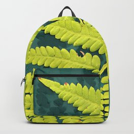 From the forest - lime green on teal Backpack