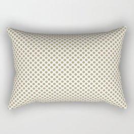 Khaki Polka Dots Rectangular Pillow