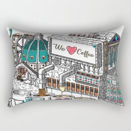 The Ancient Rome Coffee Machine Rectangular Pillow