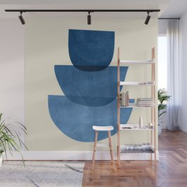 Abstract Shapes 37-Blue Wall Mural