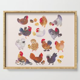Chicken and Chick Serving Tray