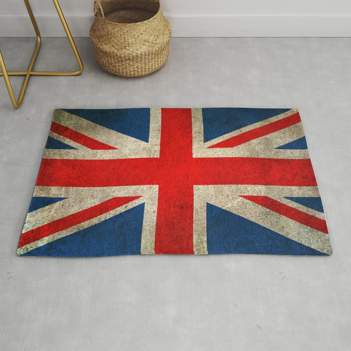 Worn Distressed Vintage Union Jack Flag