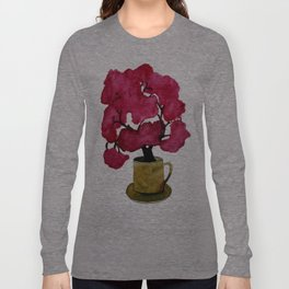 Cherry blossom Tree in Mug Long Sleeve T-shirt