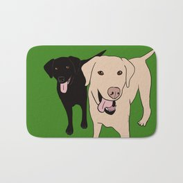 Tanner and Lily Best Labrador Buddies Bath Mat