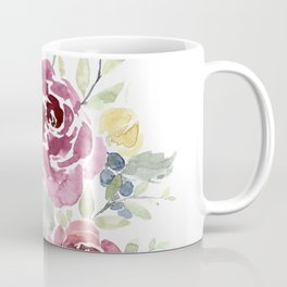 Fall Watercolor Flowers Coffee Mug