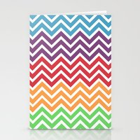 gumball Stationery Cards featuring Gumball Chevron by Wicked Cool Studio
