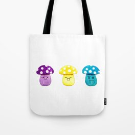 funny cute mushroom watercolor painting Tote Bag