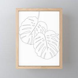 Monstera Leaves Finesse Line Art #1 #minimal #decor #art #society6 Framed Mini Art Print