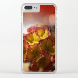 primroses with bokeh -2- Clear iPhone Case