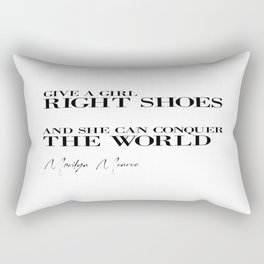Gift For Her, Bedroom Decor, Wall Art, Shoes Poster, Shoes Quote Rectangular Pillow
